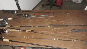 Random fishing poles some a really old probley antices for Sale in South Salt Lake, UT