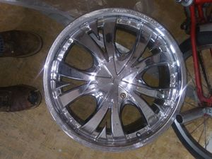 2 full sets of rims with one spare rim for Sale in Sunset Beach, NC