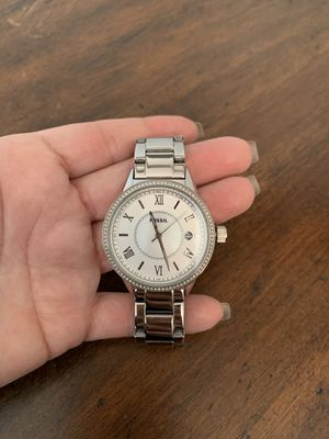 Fossil silver watch for Sale in Denver, CO