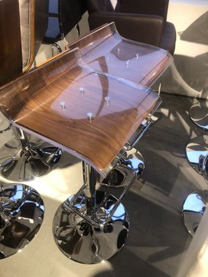 Set of 2 - acrylic/wood bar stools for Sale in Bethesda, MD
