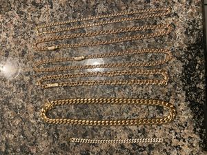 Miami Cuban link & Chino link for Sale in Houston, TX