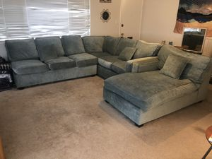 Large velvet sectional couch for Sale in Piedmont, CA