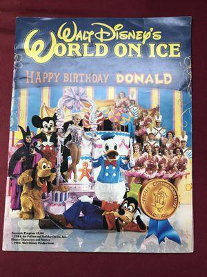 Walt Disney's World on Ice Happy Birthday Donald 1984 Souvenir Program for Sale in Oakland, CA