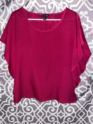 Size Medium Hot Pink F21 Forever 21 Blouse Basic Chiffon for Sale in Lake Forest, CA