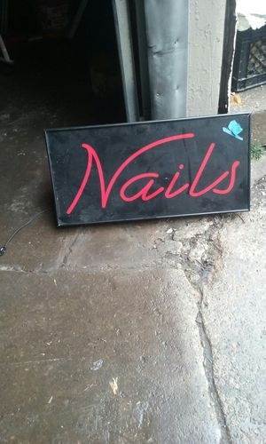 Nail sign electric for Sale in Cleveland, OH