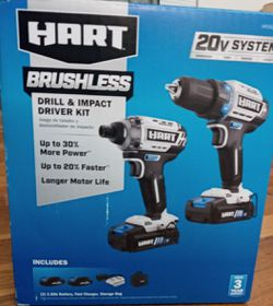 Hart brushless drill & impact driver kit!!! for Sale in Olivette,  MO