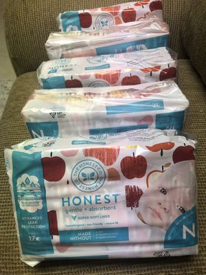 Honest brand diapers each 7$ for Sale in Dulles, VA