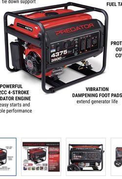 Predator Generator 4375 Watt Long Life Gas Powered for Sale in Wenatchee,  WA