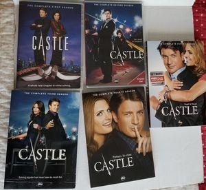 Castle tv series DVDs 5 seasons for Sale in Mystic Islands, NJ