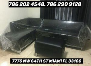 Black sectional sofa never used for Sale in Medley, FL
