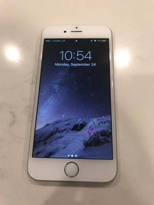 iPhone 6s Silver (64gb) AT&T for Sale in Apex, NC