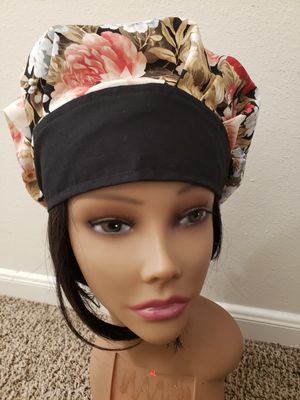 Bouffant surgical/ scrub cap made with elastic in the back for comfort and expansion for Sale in Houston, TX