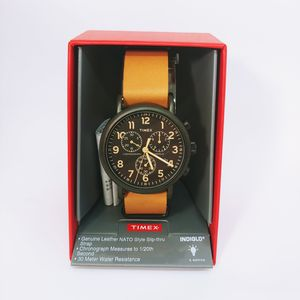 New Timex TW2P97500 Men's Weekender Indiglo Slip-On Leather Band Chronograph Watch for Sale in Miramar, FL