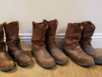 Lot Of Mens Red Wing Steel Toe Work Boots for Sale in North Las Vegas,  NV