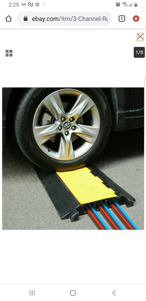 3-Channel Rubber Electrical Cable Cover Ramp Guard Warehouse Cord Protectors for Sale in Bellflower, CA