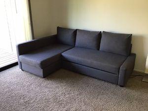Sofa bed, 3 seat w/storage, dark gray for Sale in Fresno, CA