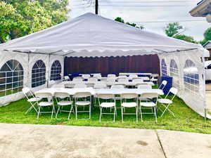 Party tent, tables andclean chairs for Sale in Duncanville, TX