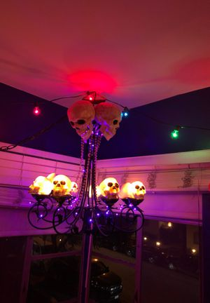 Glowing skull chandelier for Sale in West Hollywood, CA