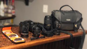 Nikon D5100 with 35mm, 18-55mm, and 55-300mm for Sale in Mineola, NY