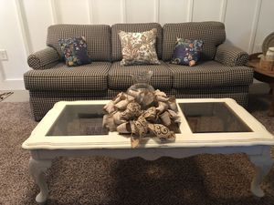 Ethan Allen sofa and shabby chic coffee table for Sale in Troutville, VA