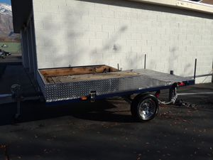 Blue & silver Utility trailer/ATV for Sale in Syracuse, UT