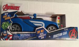 New Marvel Avengers Captain America Friction Car $12 for Sale in Peabody, MA