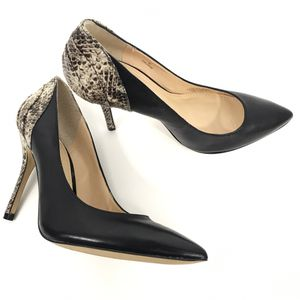 Enzo Angiolini Black Snake Print Leather Pumps 6 M for Sale in Troy, VA