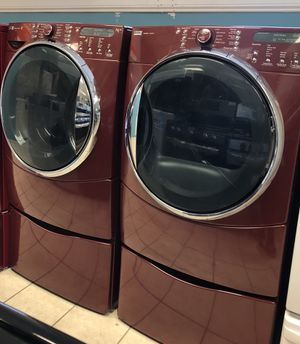 Kenmore Elite Front Load Washer and Electric Dryer Set with Pedestals for Sale in Elkridge, MD