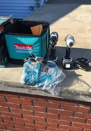 Makita drill and impact and three batteries and charger it new for Sale in Salem, NH