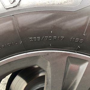 265/70/r17 Painted Matte Black Wheels ( Tires / Rims / Spare Wheel) for Sale in Herndon, VA