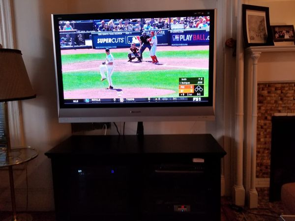 Panasonic 50 inch TV and TV stand combo. $100 or best offer.