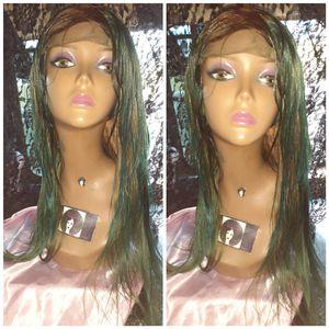 "16"" Brazilian green and blonde custom hair wig for Sale in Pompano Beach, FL"
