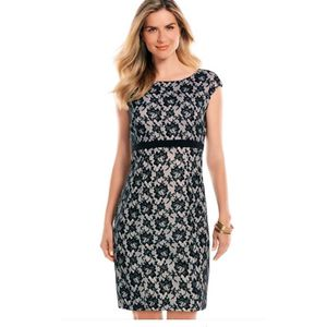 Chaps Black White Lace Overlay Sheath Dress for Sale in Bulverde, TX