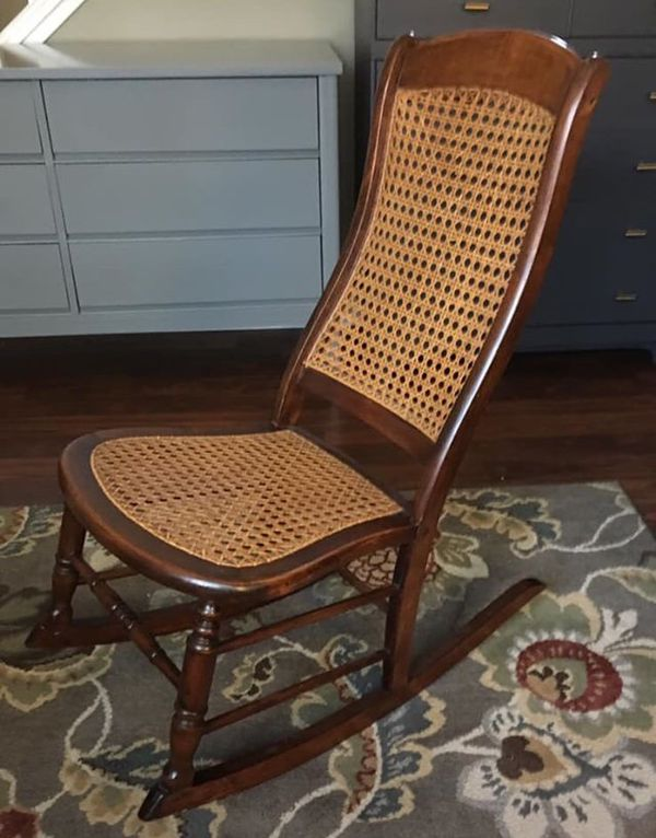 brand new 638ce 786f2 Small Hand Caned Cane Rocking Chair Rocker for Sale in Apple Valley, MN -  OfferUp