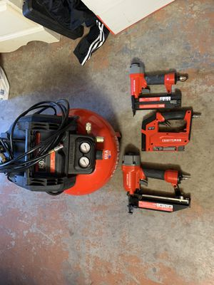 Craftsman air compressor & 3 nail guns for Sale in Hudson, FL