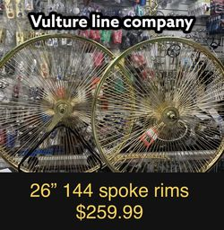 """Lowrider Set Of 26"""" inches Gold Rims Sold By Vulture Line Company for Sale in East Los Angeles,  CA"""