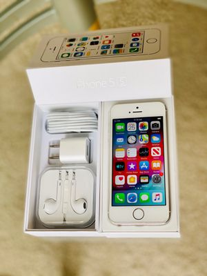 iPhone 5S factory unlock 64GB Gold OR Silver for Sale in Glenview, IL