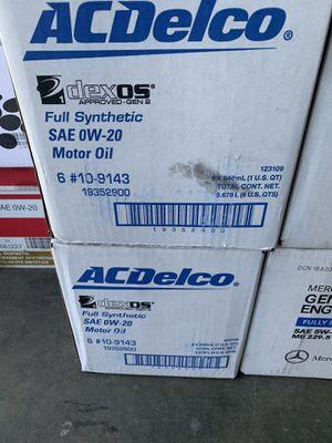 AC DELCO FULL SYNTHETIC 0W20 DEXOS 6quarts! for Sale in San Dimas, CA