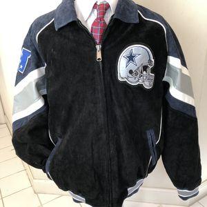 MINT! Dallas Cowboys Suede Jacket XL Black/Blue/White Big Star for Sale in Falls Church, VA