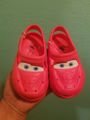 Red Cars Croc Style Toddler Sandles..Size 6/7 childs..Brand New! for Sale in Modesto, CA