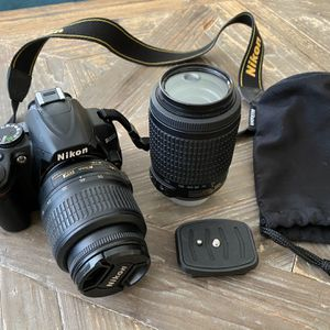 Nikon D3000 (With Two Nikkor Lenses And Carry Bag) for Sale in Vista, CA