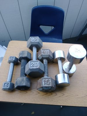 Dumbbell weights 70 pounds. for Sale in Fremont, CA
