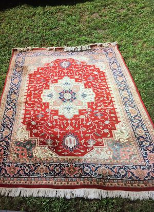 "6'1""x 8'10"" Handmade Priental Rug Wool India for Sale in Milton, MA"