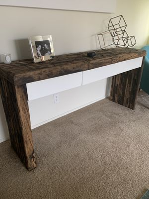 Gorgeous reclaimed wood handmade console table for Sale in Oakland, CA