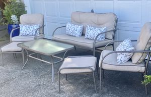 6-Piece New Outdoor Patio Conversation Set With Cushions for Sale in Kent, WA