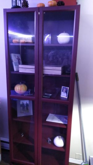 Beautiful glass door BRAND new bookshelves for Sale in Seattle, WA