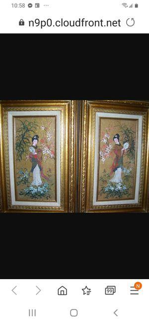 Original Japanese Art. Signed by Artist. MOK. Watercolor on cork. for Sale in Kingsley, PA