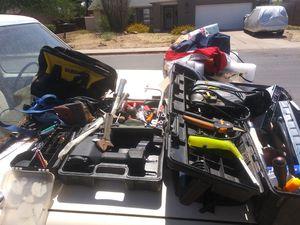 Lot of Misc. Tools + Power Tools+ Tool Boxes +Dewalt Tool Bag + Craftsman + Jigsaw + Sander+ Nail Gun+ Souldering gun for Sale in Phoenix, AZ