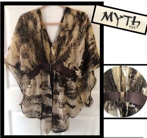 Myth nyc shawl blouse size L for Sale in Wakefield, MA