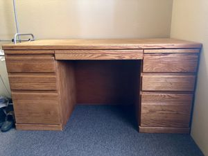 Wood Desk for Sale in La Pine, OR